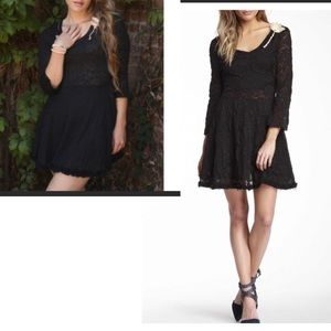 NWT. Anthropologie Nick & Mo S black lace dress.
